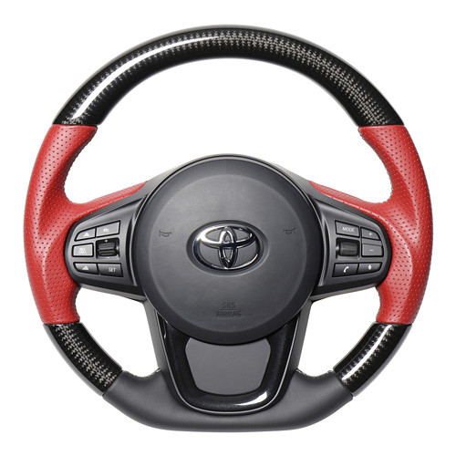 Real Carbon / Red Leather Steering Wheel for Supra (2020-2021) A90