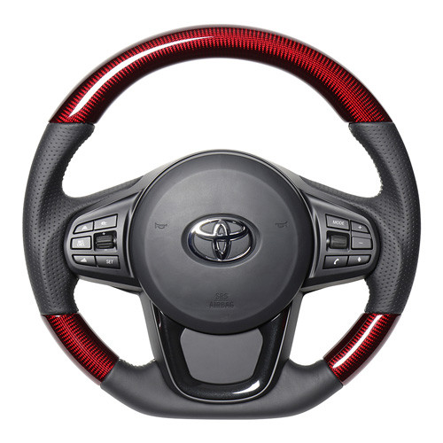 Real Red Carbon Steering Wheel for Supra (2020-2021) A90
