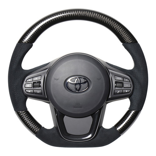 Real SUEDE and CARBON Steering Wheel for Supra (2020-2021) A90