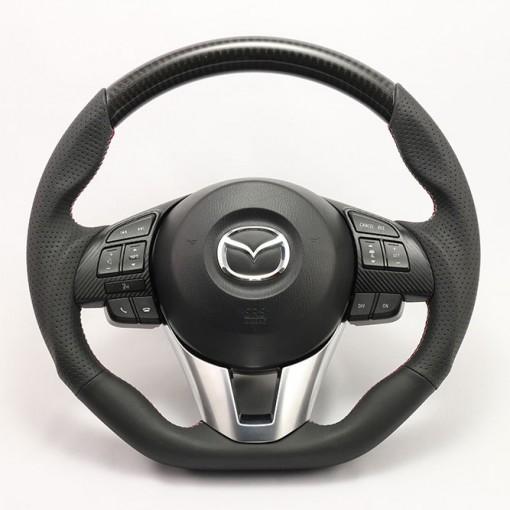 KenStyle Carbon (Type-3) Steering Wheel for 2013+ Mazda3 (Axela)