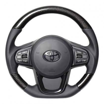 Real Black Carbon Fiber Steering Wheel for Supra (2020-2021) A90