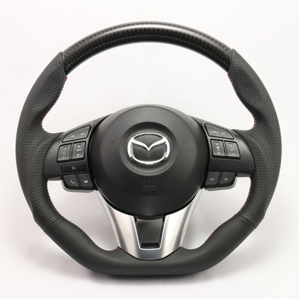 KenStyle Carbon (Type-3) Steering Wheel for 2013+ Mazda3 (Axela)