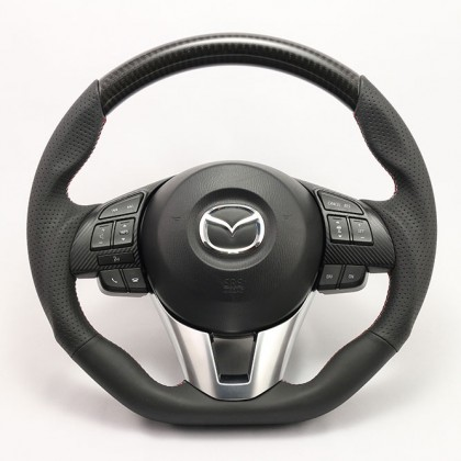 KenStyle Carbon (Type-3) Steering Wheel for 2015+ Mazda CX-3