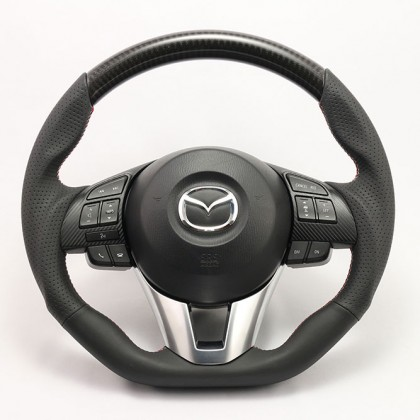 KenStyle Carbon (Type3) Steering Wheel for 2014+ Mazda2 (Demio)