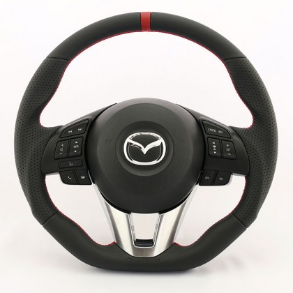 KenStyle Leather (Type-4) Steering Wheel for 2014+ Mazda2 (Demio)