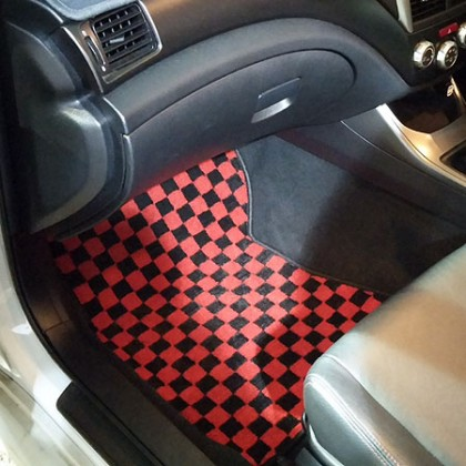 Zeromotive Checkered Floor Mats for Subaru WRX/STi 2007-2014