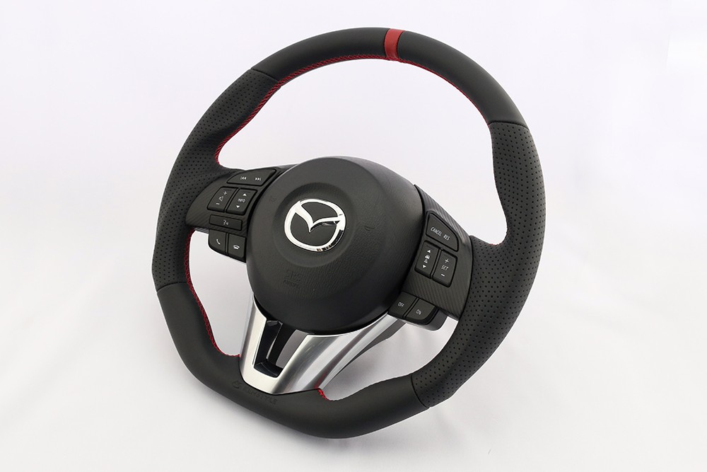 Kenstyle Leather Type4 Steering Wheel For 2015 Mazda